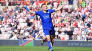 Jamie Vardy has scored 22 goals in 34 Premier League games for Leicester this season
