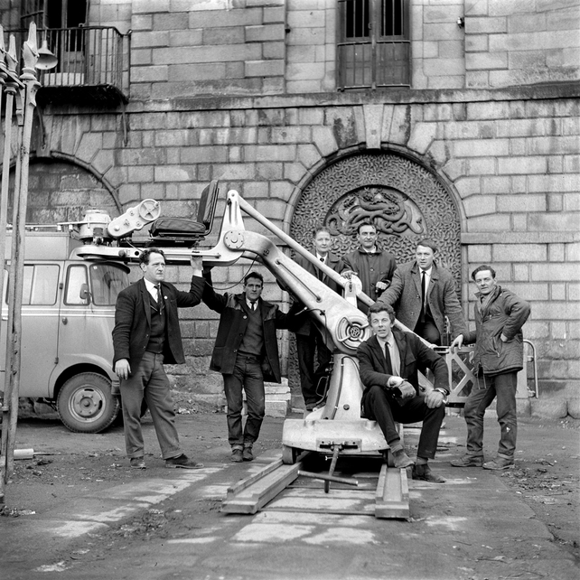 RTÉ Discovery crew during filming of 'Ghosts of Kilmainham' (1966)