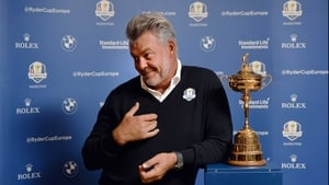 Darren Clarke welcomed the media to Royal Portrush on Tuesday morning