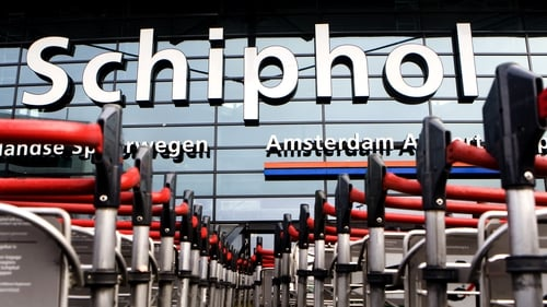 The man was arrested on Friday morning after landing at Amsterdam's Schiphol airport