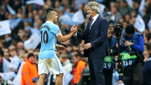 Sergio Aguero is hoping to give Manuel Pellegrini a glorious send-off from Man City