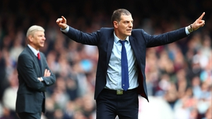 Slaven Bilic reacts during West Ham's 3-3 draw with Arsenal at the weekend