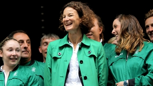 Sonia O'Sullivan during her role as Chef de Mission for the London 2012 Olympics