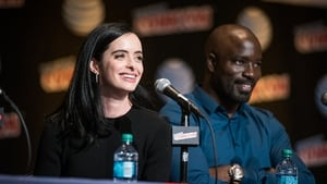 Mike Colter with Jessica Jones co-star Kirsten Ritter