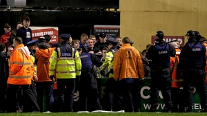 Gardaí engaging with the crowd at Dalymount Park