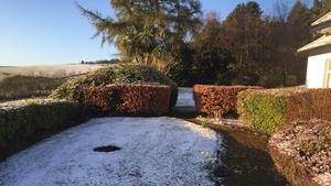 April snow in Enniskerry, Co Wicklow