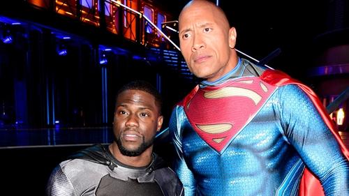 Kevin Hart and Dwayne Johnson at this year's MTV Movie Awards