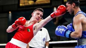 Brendan Irvine in action against Daniel Asenov