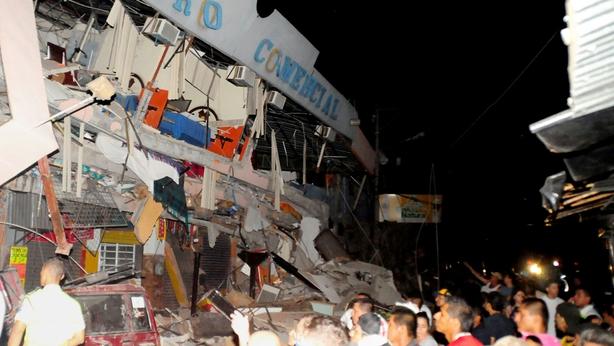 earthquake rocks Ecuador