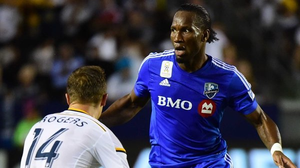 Didier Drogba came on in the second half