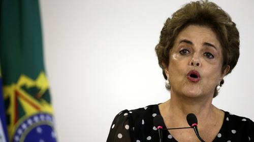 The Senate is due to vote in May on whether to open a trial at which point Ms Rousseff would be suspended