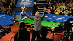 Steve Davis takes the applause of the Crucible crowd after announcing his retirement