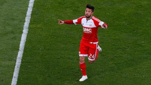 Lee Nguyen levelled with a last-gasp penalty for Revolution