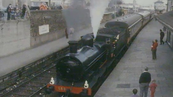 Steam Train from Dublin to Wexford (1976)
