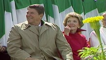 Ronald Reagan and his wife Nancy visited Ireland in June 1984