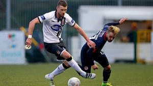 Ciaran Kilduff was injured playing against St Pat's in the League Cup