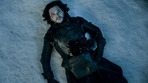 The episode picked up exactly where it left off in the season five finale - looking at Jon Snow's dead body lying on the cold hard ground of Castle Black