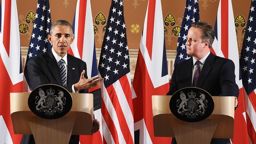 This afternoon Barack Obama met British Prime Minister, David Cameron