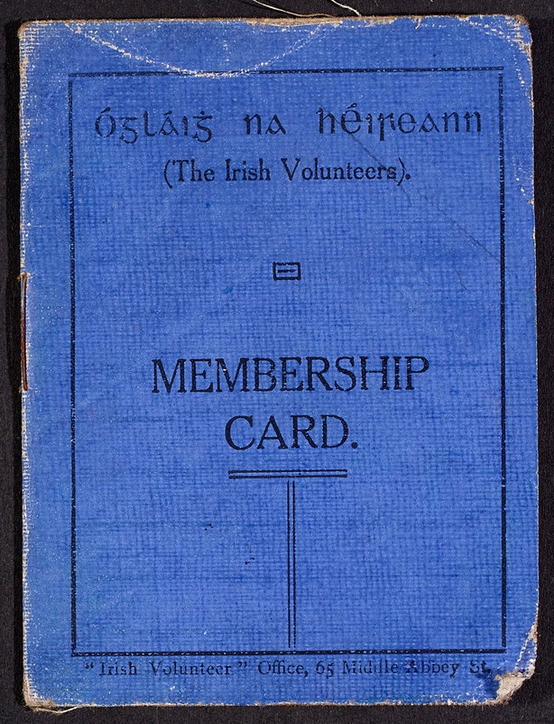 Thomas MacDonagh membership of the Irish Volunteers (Courtesy of National Library of Ireland)