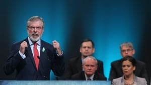 During his key note address Gerry Adams issued stinging criticism of Fianna Fáil