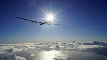 The goal of the flight is to promote the use of renewable energy