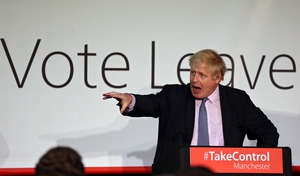 Boris Johnson campaigned prominently for Britain to leave the European Union