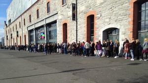 X Factor hopefuls queue up at Dublin's 3Arena