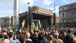 There was a concert on O'Connell Street (Pic: Oisín O'Connell)