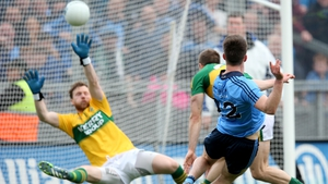 Eric Lowndes scores Dublin's second goal against Kerry