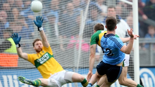Eric Lowndes scores Dublin's second goal against Kerry