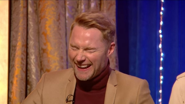 Ronan Keating was left red-faced on MichaelMcIntyre's Big Show