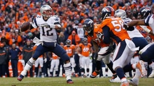 Tom Brady in action for the Patriots against the Denver Broncos