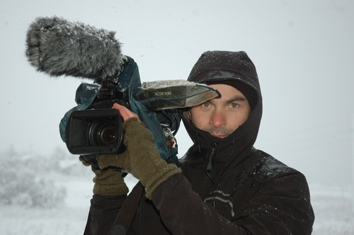 Risteard Ó Domhnail working on his new documentary, Atlantic which has gone on release
