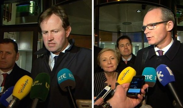 Jim O'Callaghan and Simon Coveney sounded optimistic as talks ended