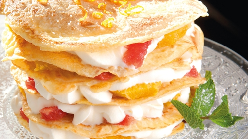 Creamy CitrusPancake Stack: Catherine Fulvio