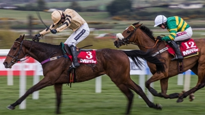 Bellshill winning in the Irish Daily Mirror Novice Hurdle at Punchestown in April