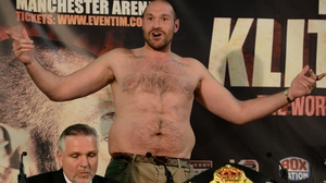 An original date in July had to be scrapped after Fury picked up an ankle injury