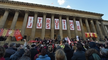 The people of Liverpool pay their respects to those who died at Hillsborough in 1989