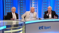 Liam Brady, John Giles and Eamon Dunphy give their take on Atletico's win at home to Bayern Munich.