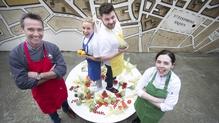 Chefs Kevin Dundon, Anna Haugh, Simon Lamont and Danni Barry launch the Taste of Dublin 2016