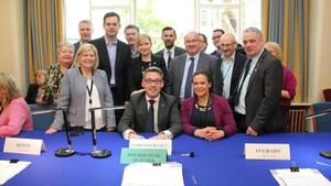 Sinn Féin'sNiall Ó Donnghaile was elected on the Administrative panel this morning (Pic: @OireachtasNews)