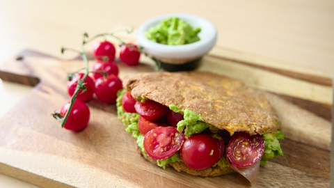 Sweet Potato Pita Stuffed with Avocado | Roz Purcell