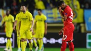 A dejected Jordon Ibe after Adrian Lopez scored a late winning goal for Villarreal