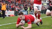 Munster's Rory Scannell scored the opening try