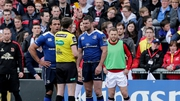 Rob Kearney is sin-binned during the defeat to Ulster