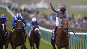 Frankie Dettori steered Galileo Gold to victory at Newmarket