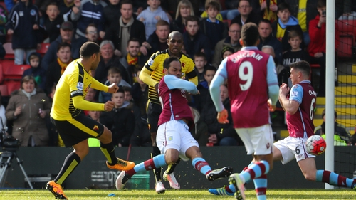 Troy Deeney fires home the winner for Watford