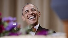 President Obama made most of his last opportunity at annual gathering to poke fun at friends and rivals