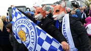 The Leicester fans are hoping to witness history in the making at Old Trafford this afternoon