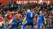 Anthony Martial (L) gave Manchester United the lead